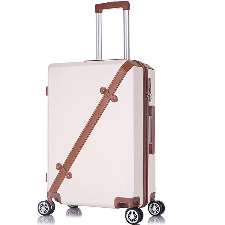 Four large silent-running double wheels acrylic suitcase china supplier