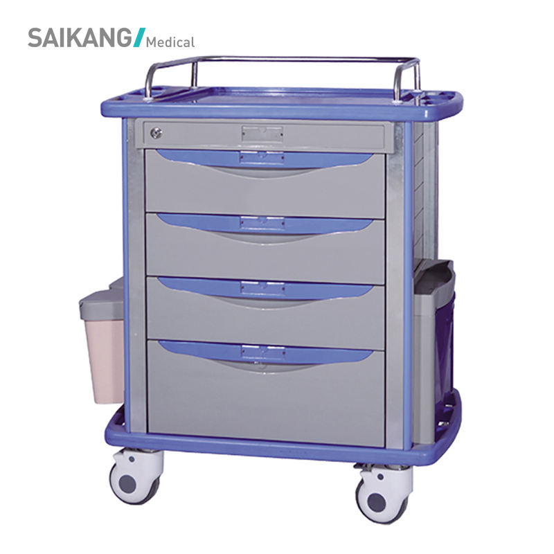 SKR055-MT Hospital ABS Medical Instrument Durable Therapy Trolley