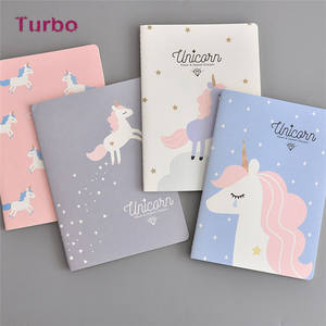 Korean 2020 New school office cartoon paper notebook stationery cheap wholesale Small size fancy unicorn notebooks