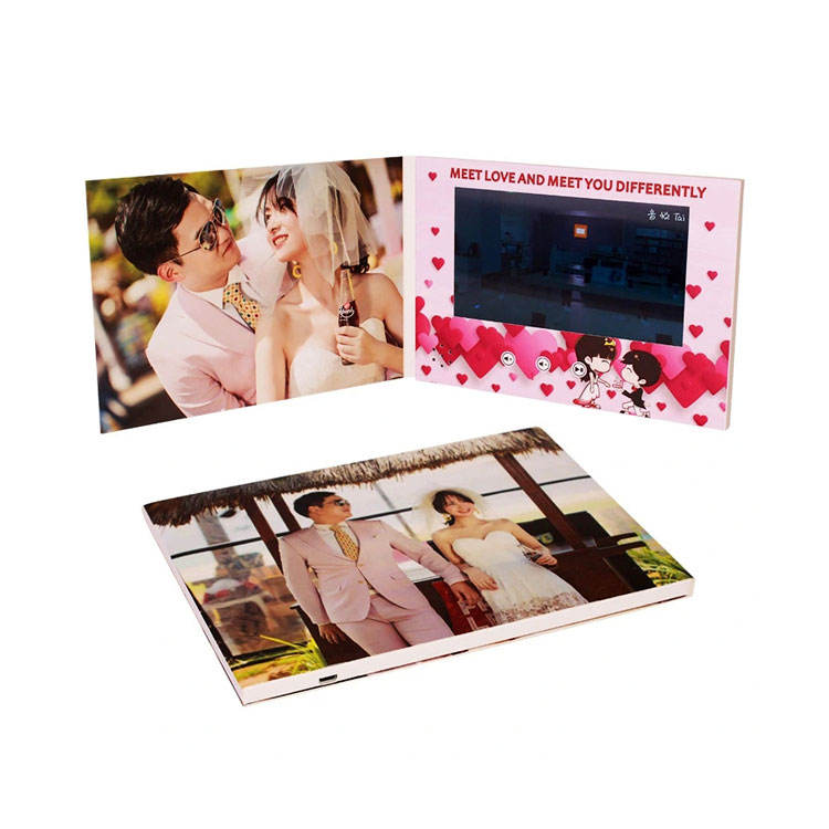 Top Selling Birthday/Wedding/Thanksgiving/Christmas invitation Card with LCD Screen 7inch Video player brochure With Best Price