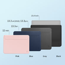 WiWU Laptop ultra thin sleeve  skin pro PU leather magnetic closure mac-book sleeve case for 13'', 15'' lightweight bag