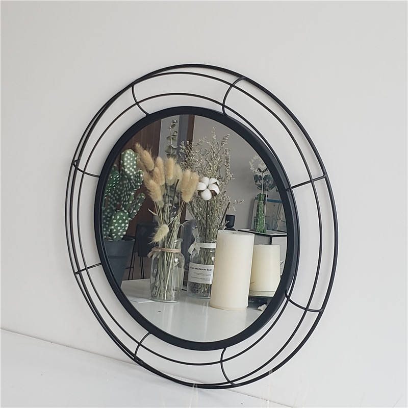 Wholesale Simple custom mirror Hanging Round Framed Wall Mirror for Hotel decoration