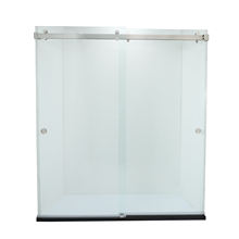 Bathease custom luxury  2 panel sliding shower door adjust sliding shower bath enclosure
