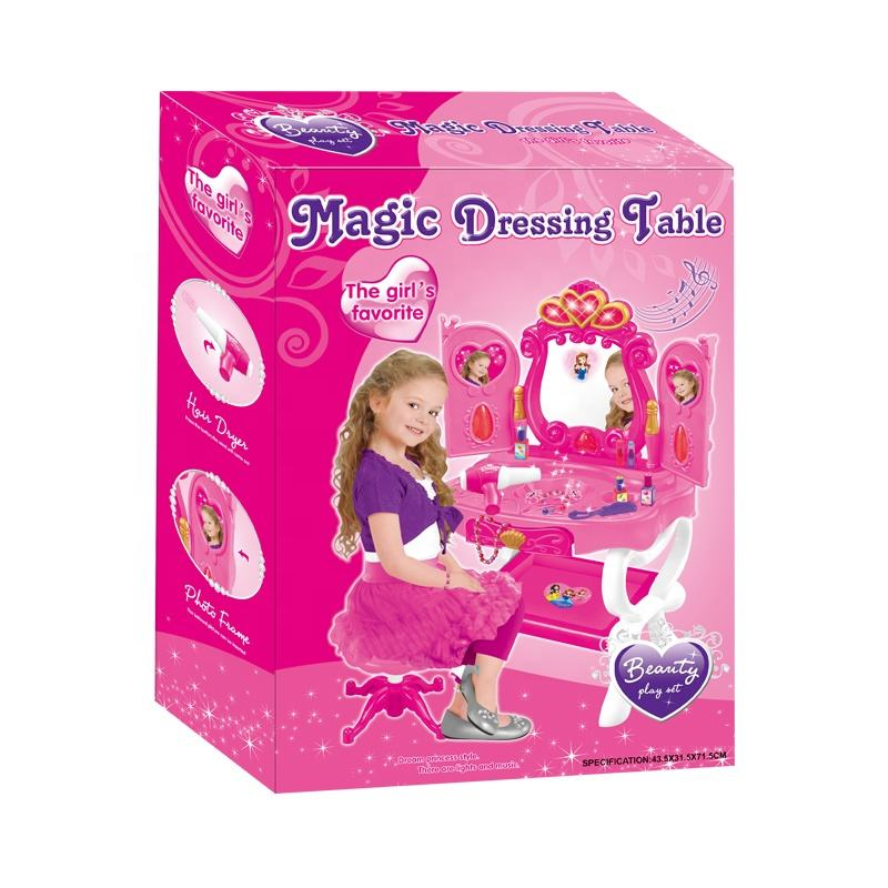 Girls hot selling baby dressing table toy set
