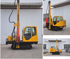 Solar pile driver pile driving machine ground screw driver