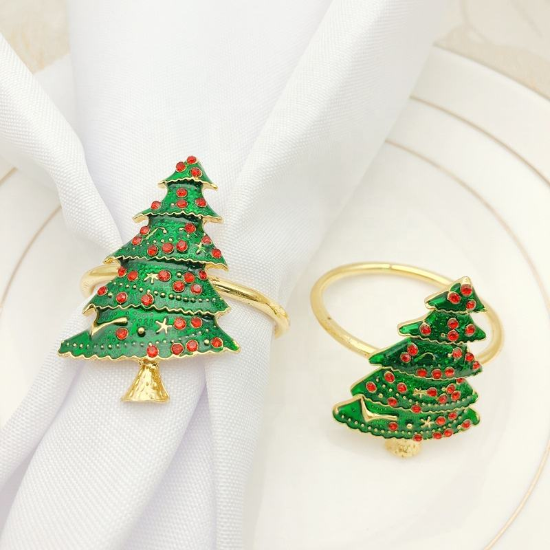 Dining table wedding decoration metal Christmas tree Napkin Ring