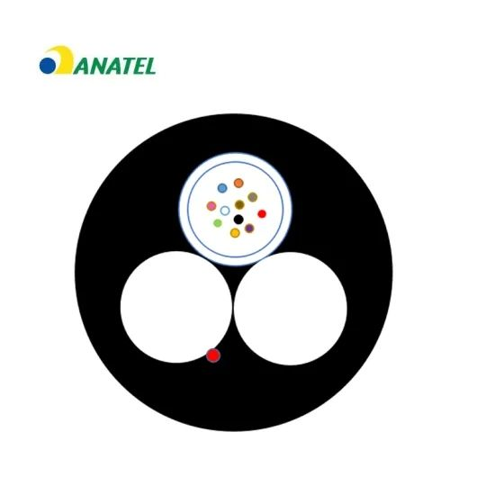Most Hot Two FRP Non-Metallic Single Mold 1-24cores Aerial Fiber Optic/Optical Cable (GYFFY) with Anatel