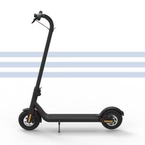 Electric scooter lightweight and foldable upgraded version of motor power-black and white