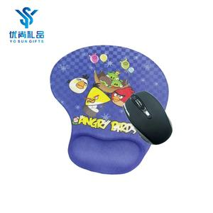 Round Print Gaming Mouse Pad With Wrist Support Silicon Gel Mouse Pad