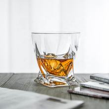300 ml Lead-free Crystal Twisted Whiskey Glass Scotch Glass