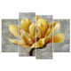 4 Pieces Yellow Flowers Painting Canvas Prints for Home Wall Decor