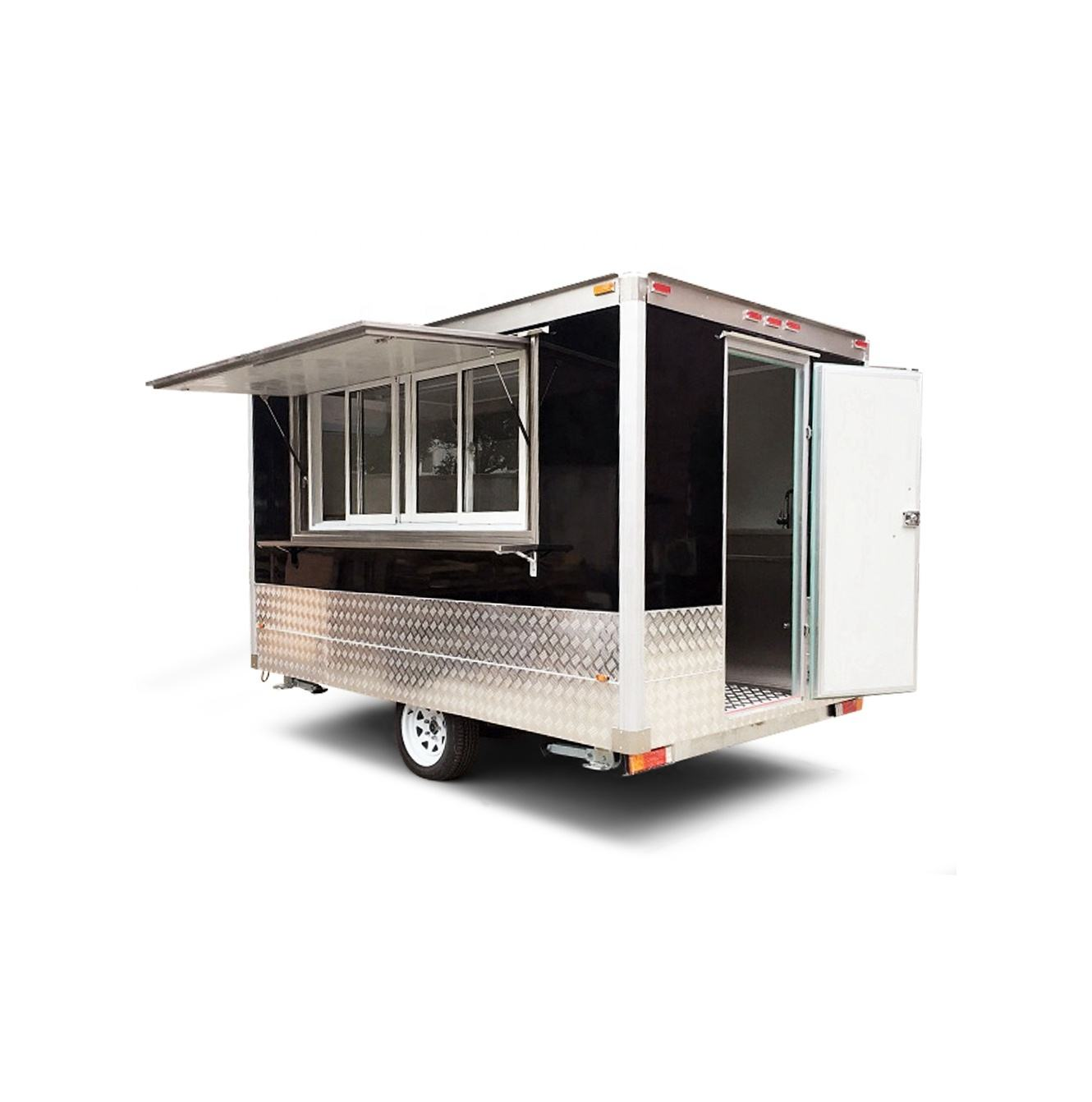 mobile food carts Mobile Stainless Steel Hot Dog Cart/concession trailer/towable food trailer for sale