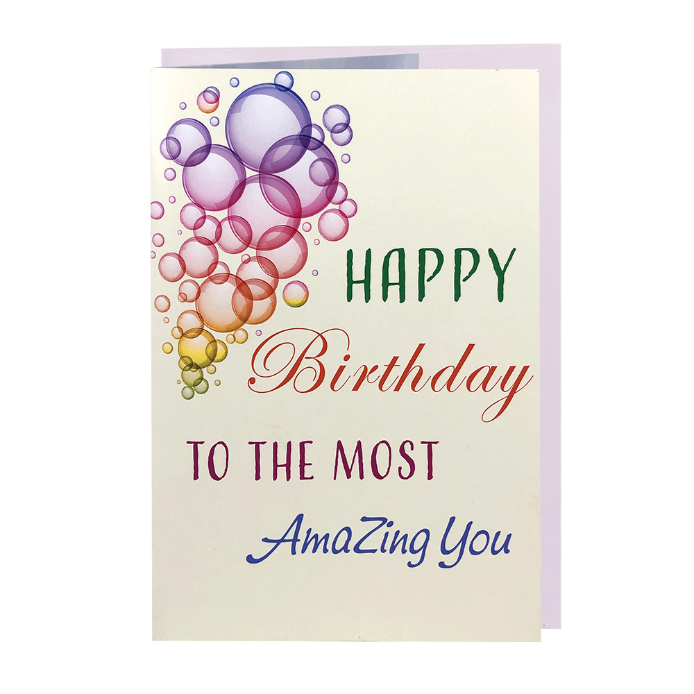 Winpsheng happy birthday musical greeting card with sound module