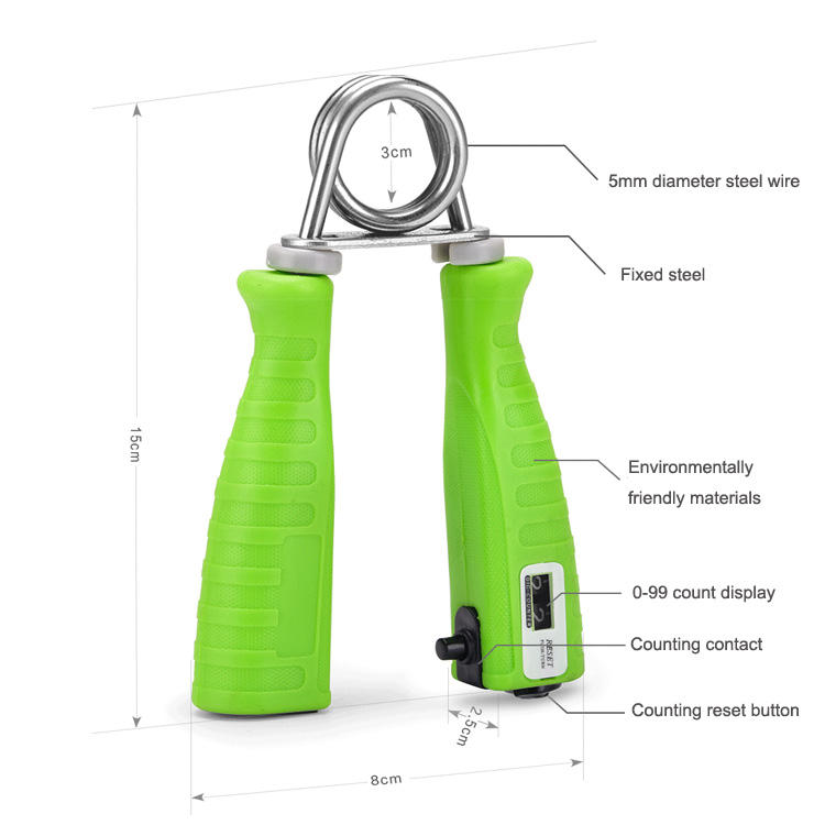 Countable Hand Grip การฝึกอบรม Hand exerciser Grip strengthener