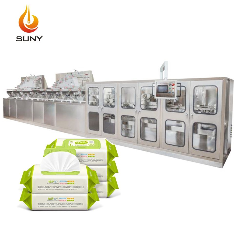 Fully Automatic Wet Tissue Making Machine baby wet wipes production line