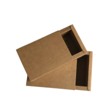 Custom LOGO collapsible sliding kraft paper drawer box cosmetic box small package