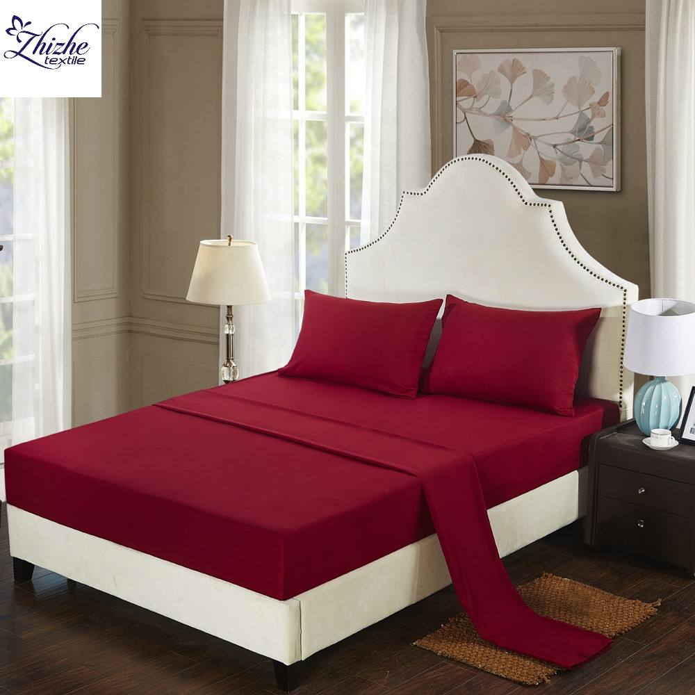 European and American style pure egyptian cotton bedsheet bed sheet set