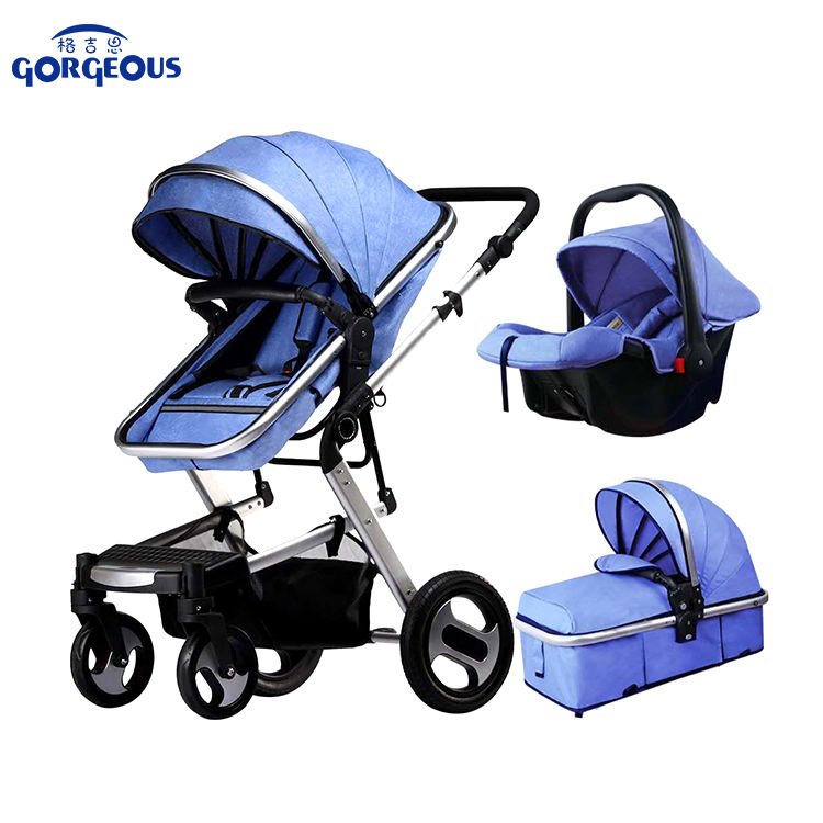 Wholesale cheap high landscape travel system luxury new baby stroller with umbrella