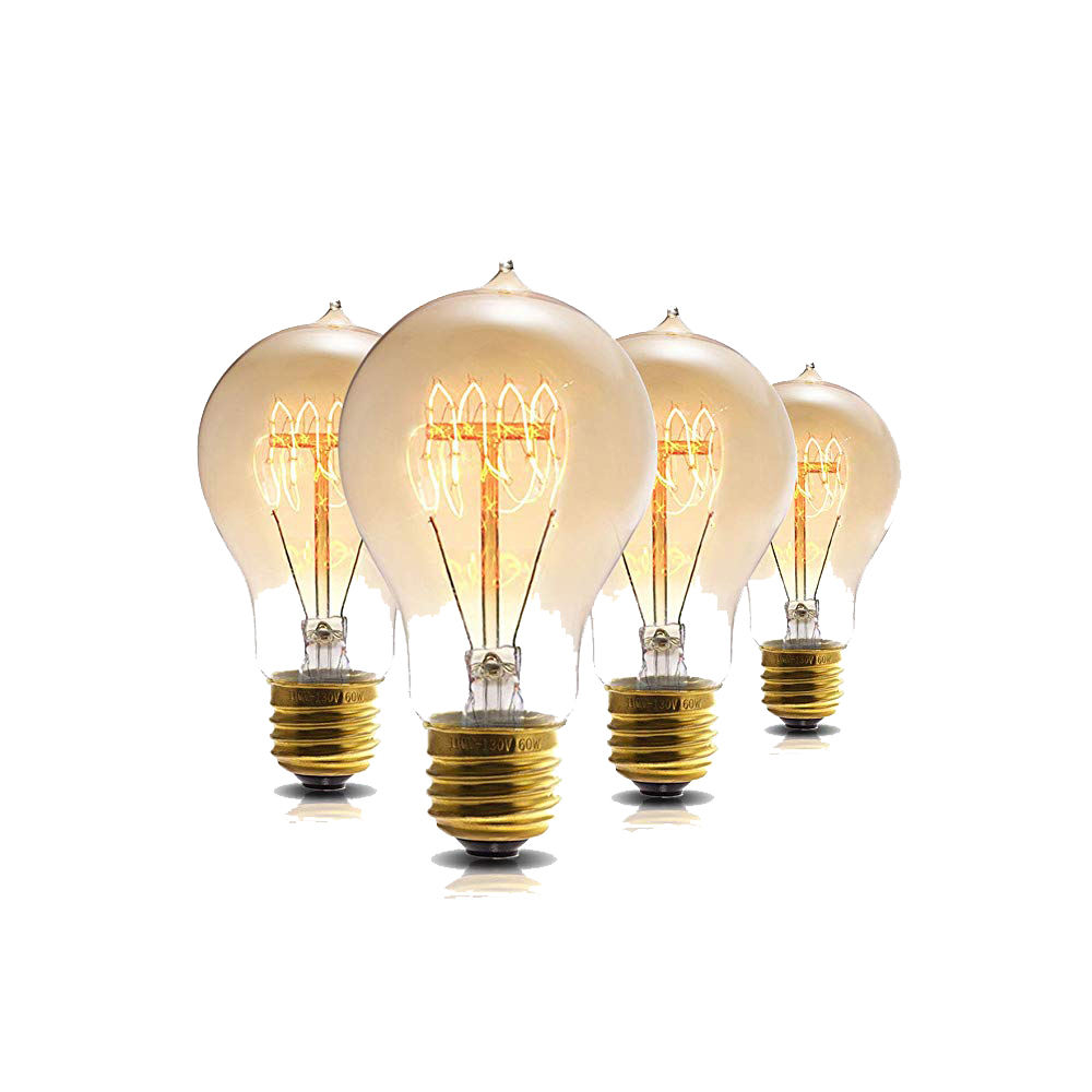 A19 Dimmable 60W Edison Tungsten Amber glass Bulb Vintage Incandescent lights E26 for Home lighting decorate Vintage bulb