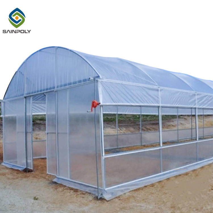 The cheapest mini single-span poly tunnel agriculture green house vegetable high polythene tunnel garden greenhouse for tomato
