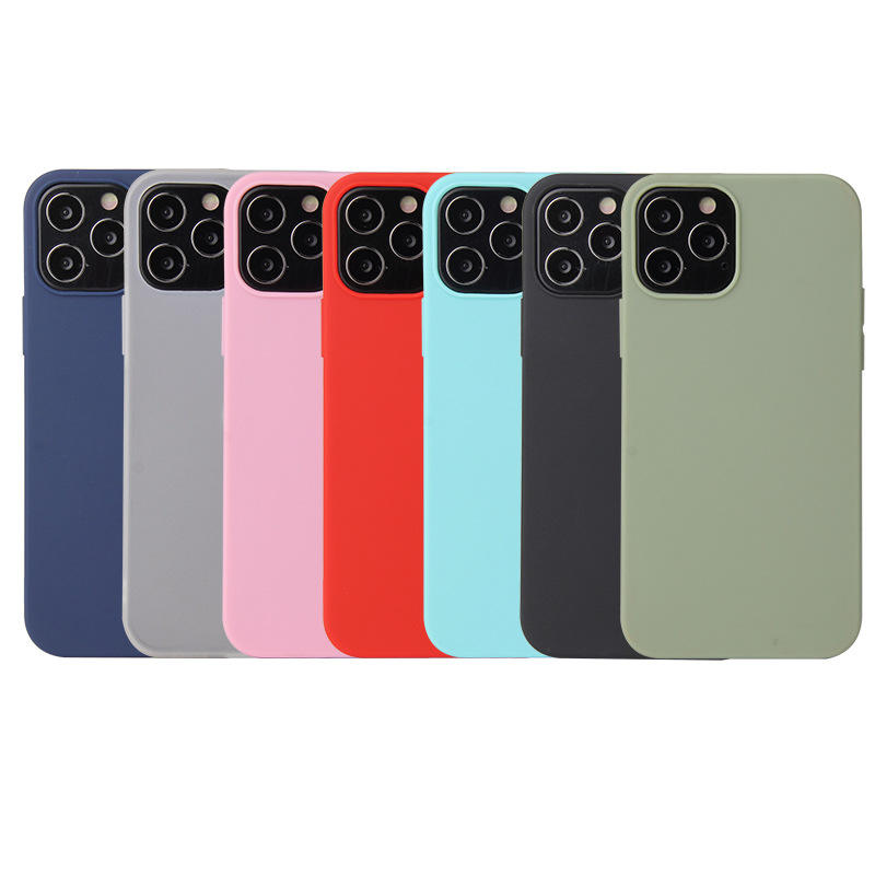 Ultra Thin Candy Color Matte Soft Silicone TPU Back Cover Phone Case For iPhone 12 Pro Max 11 XS XR X 6 7 8 Plus