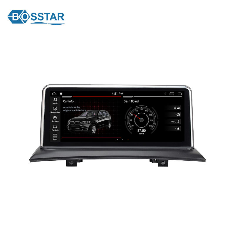 Bosstar Android 10.25 polegadas Gps som do carro dvd para bmw x3 E83 rádio do carro