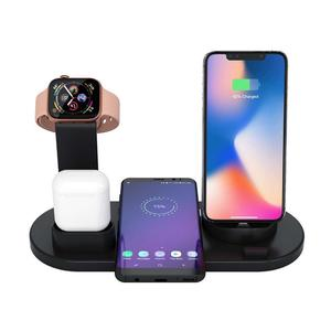 New Hot Multi-function 4 in 1 Wireless Charging Dock 10W Charger Stand Fast Charger for Smart Device