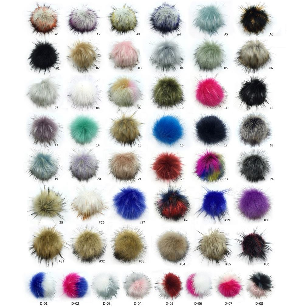 Colorful Keychain Beanie Hat Keyring Slippers Detachable Pom Poms Fur Ball Pompom Maker Faux Fur Pompom