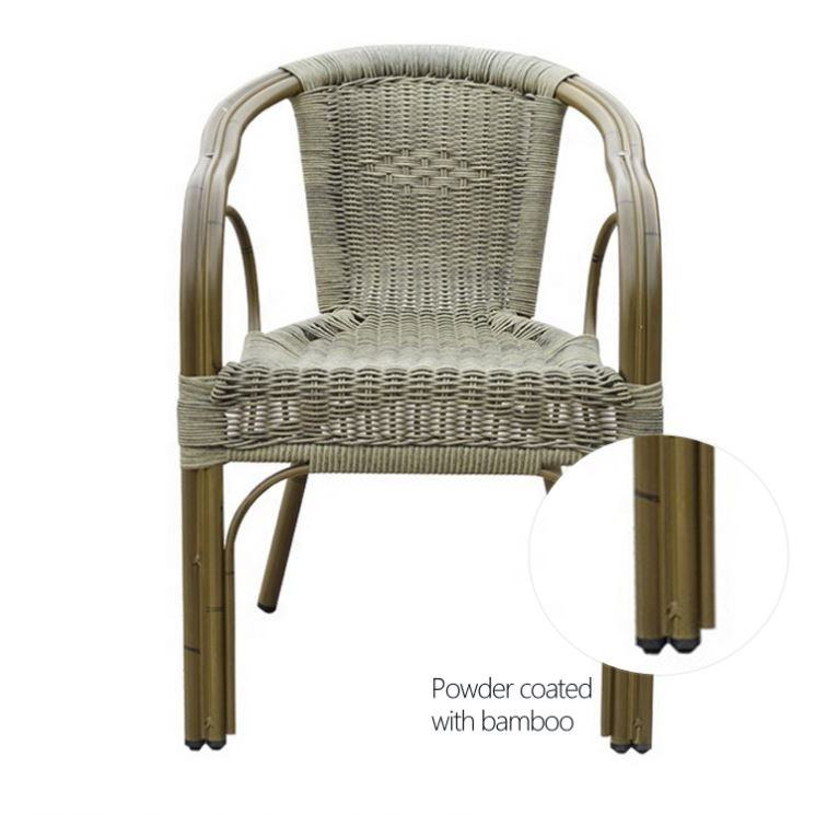 Brand New Bistro Chairs China Modern Elegant Wicker Table And Grey Rattan Chair Outdoor Furniture