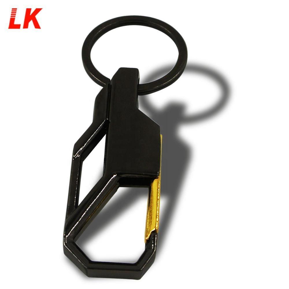 Business Luxury Metal Hook Keychain For Man Designer Mens Car Keyring Gift Key Holder