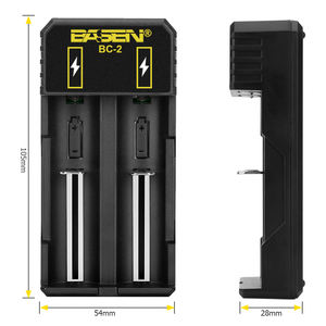 Dual usb caricatore Basen marca BC2 micro usb fast charger 18650 battery charger