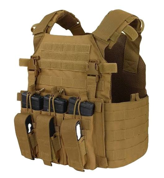 Tactical Vest Outdoor Combat Training Games Vest for Men Adjustable & Lightweight