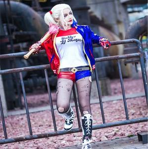 Anime cosplay kostum harley quinn sexy fancy dress kostum