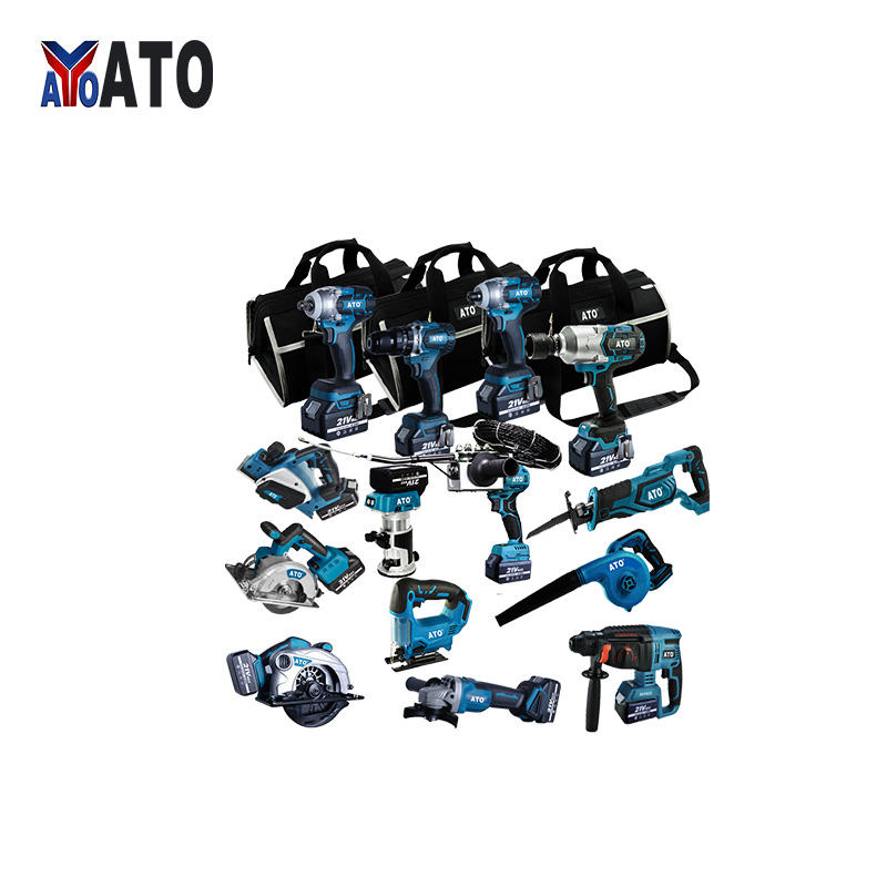 ATO Power Tools N in one replacement Electric Drill 3.0Ah 4.0Ah 5.0Ah 21V makita 18v combo tool kit