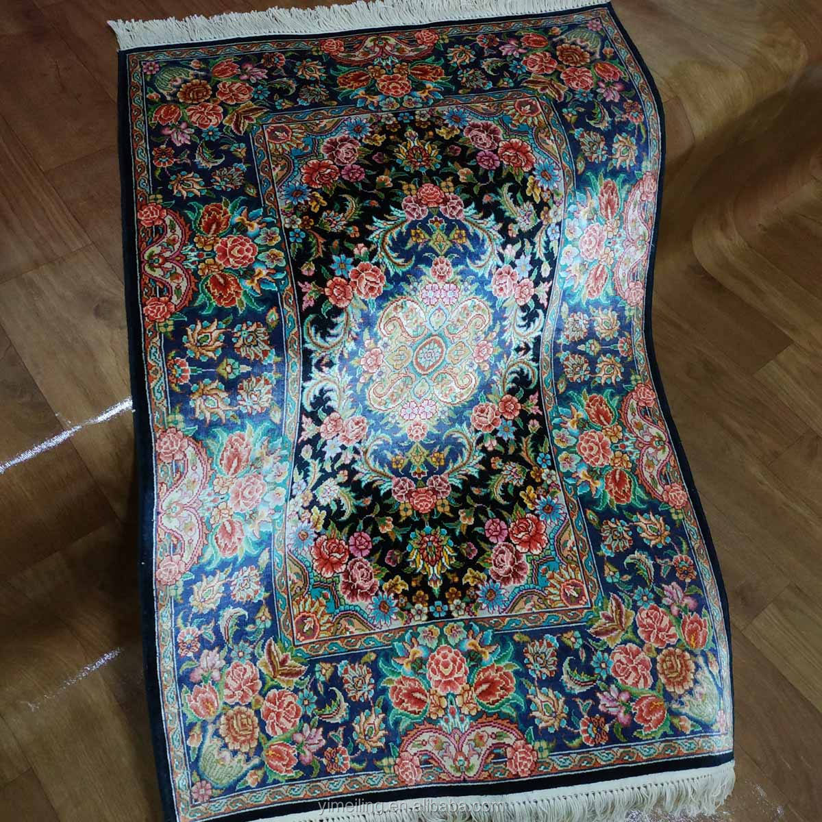 2x3 Small Entrance Size Oriental Persian Style Floral Handmade Silk Area Rugs Door Floor Carpets