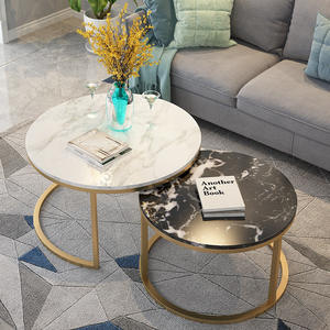 2020 hot sale room furniture sofa center table top marble round coffee table