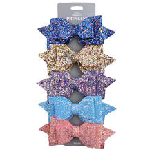 2020 multi color fashion glitter hair bows clips for girls hair accessories