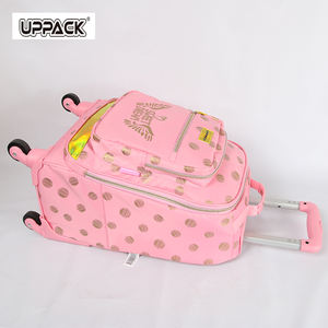 fashion ball pattern new design high quality school travel trolley bag