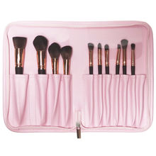 Best pink pu leather zipper pvc cosmetic case makeup brush bag custom logo