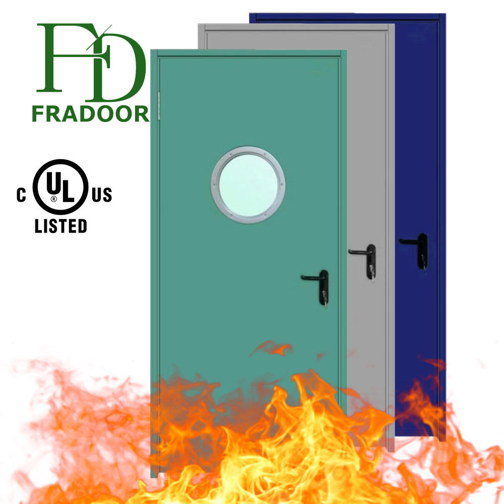 Quality Fireproof Security Fire Rated Steel Fireguard Steel Door