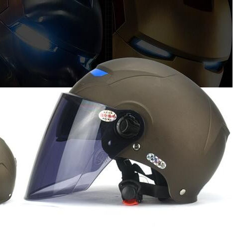 YEMA IRON man stylish summer motorcycle helmet with double visor YM-331