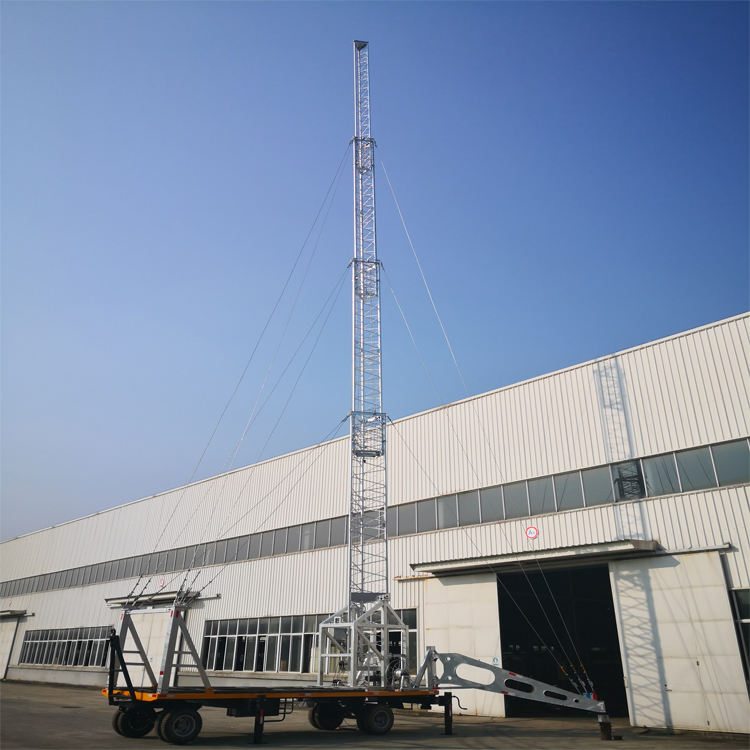 The Fine Quality Communication Steel Telescopic Lying Tower