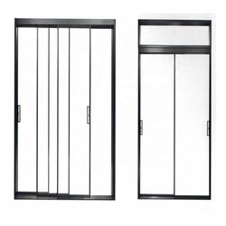 Foshan factory foshan aluminum wholesale sales door handle and sliding black window corner code guides