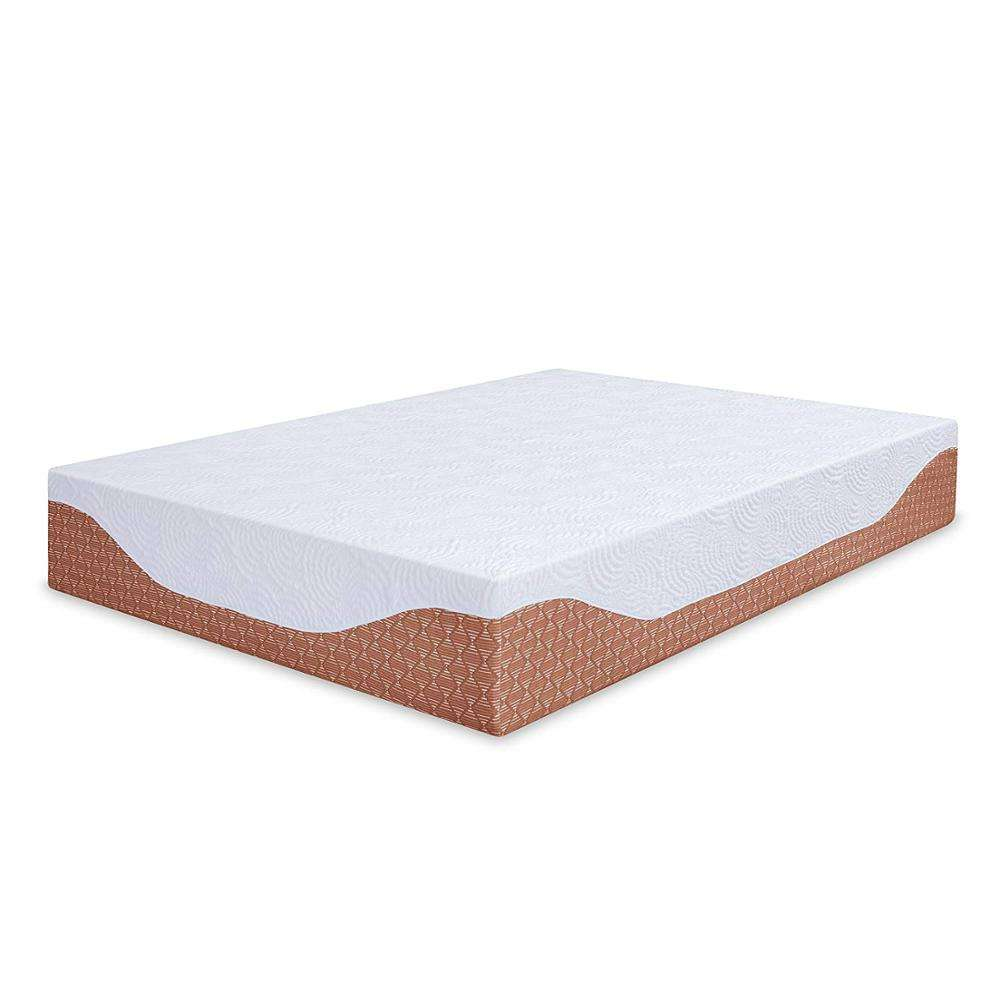12 Inch Multi-Layered I-Gel Infused Memory Foam Mattress, Cal King, mattresses for beds memory foam