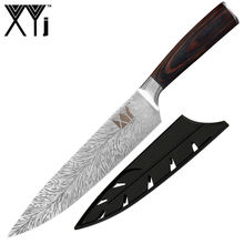 Yangjiang XYj Knife Kitchen 7Cr17Mov High Carbon Stainless Steel Pakka Wooden Handle 8 Inch Knife Kitchen Chef With Knife Cover