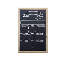 New Design Wooden Frame First Day of School Chalkboard Sign