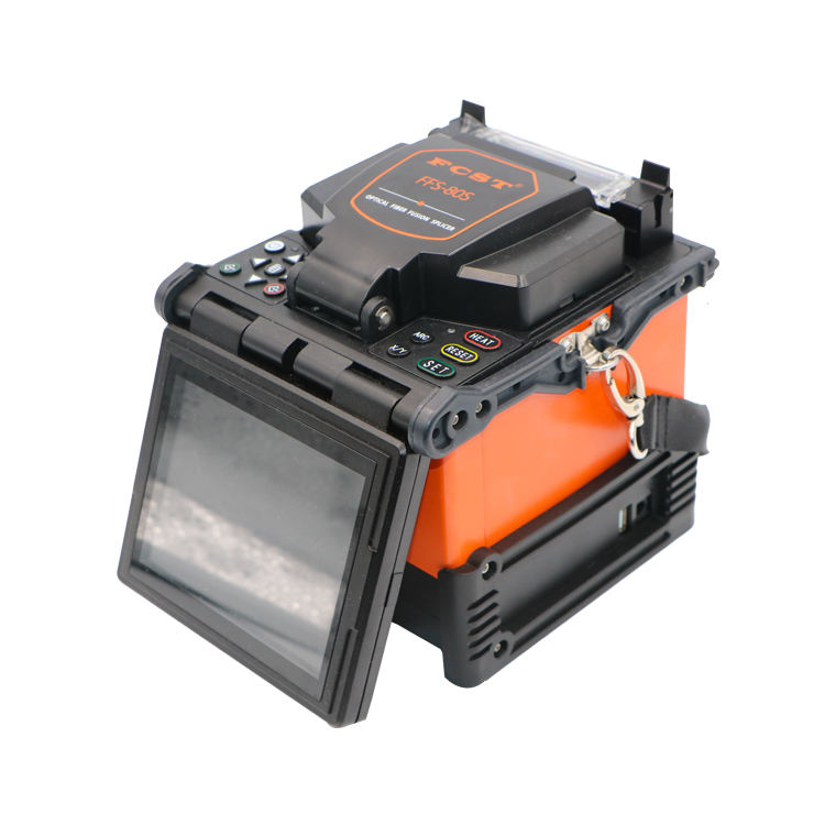 FFS-80S Automatic Touch Screen Fiber Optic Cable Splicing Fusion Machine Splicer for FTTH in Stock