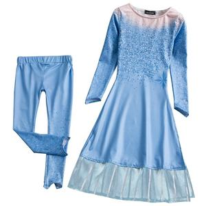Frozen Elsa Dress Cosplay Costume Halloween Party New Design Elsa dress cosplay costume in frozen BX1653
