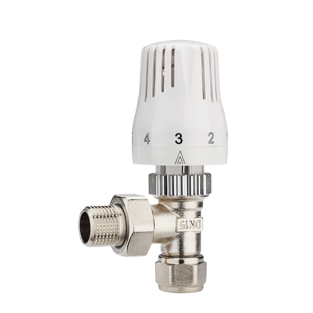 Baiyilun Automatic Brass Thermostatic Radiator Angle Type Valve with Many Setting Mode