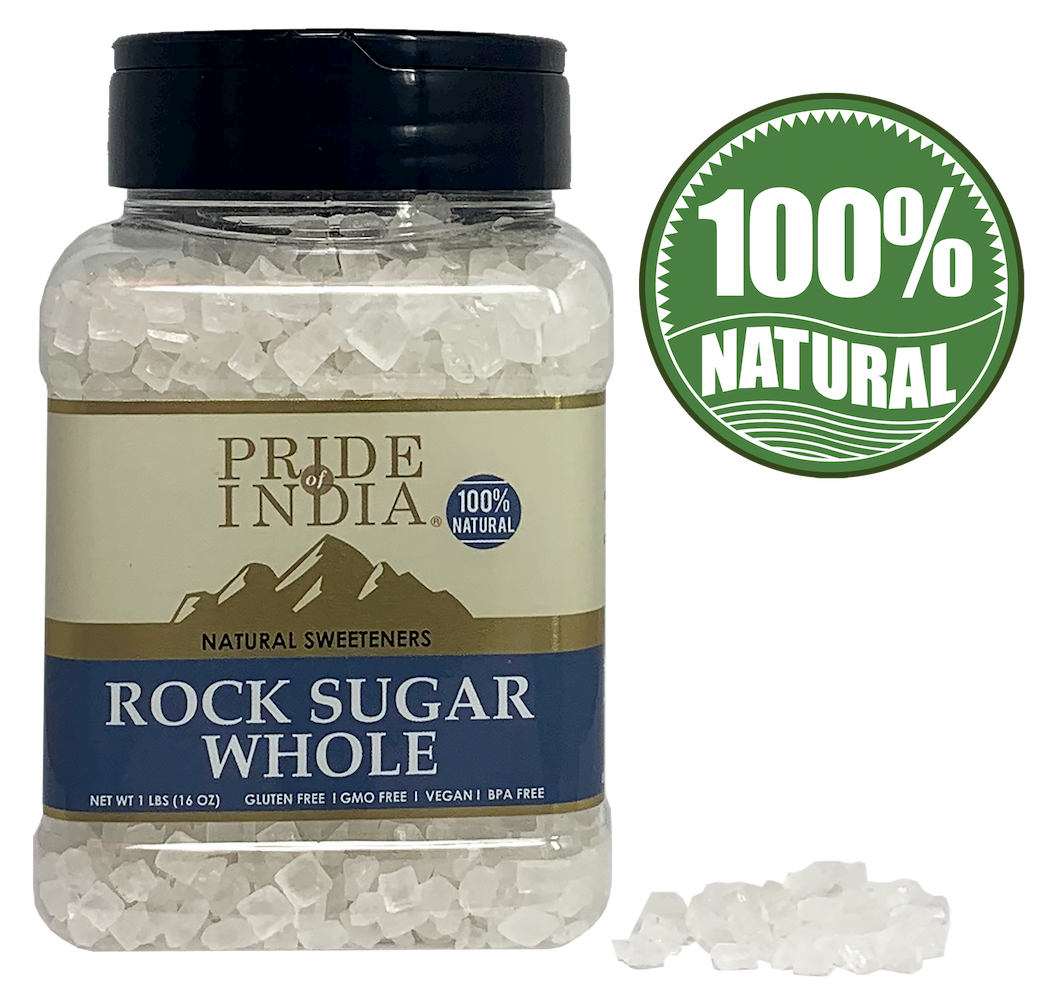 PRIDE OF INDIA - NATURAL ROCK SUGAR SMALL BULK PACK(20 KG, 44 LBS)